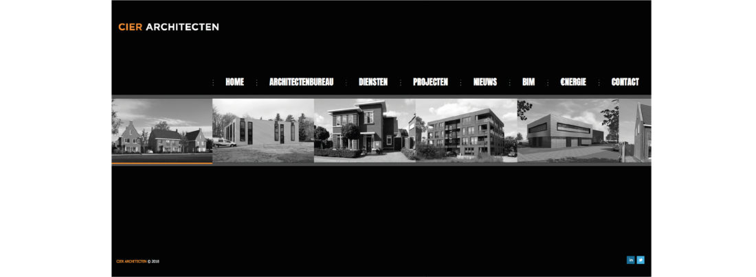 Website CIER Architecten