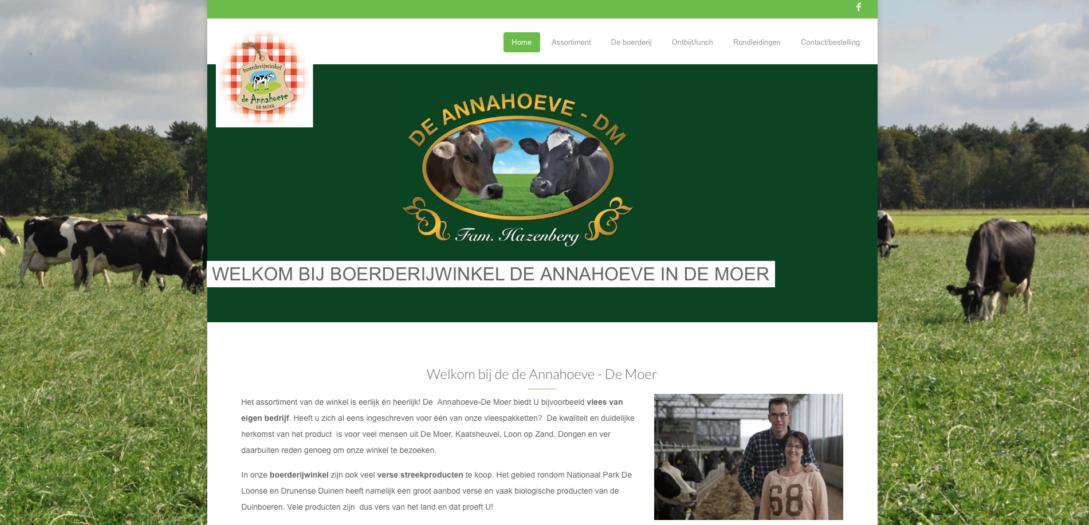 nieuwe site De Annahoeve