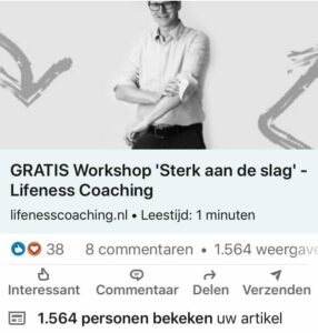 social media campagne lifeness coaching online communicatie linkedin facebook