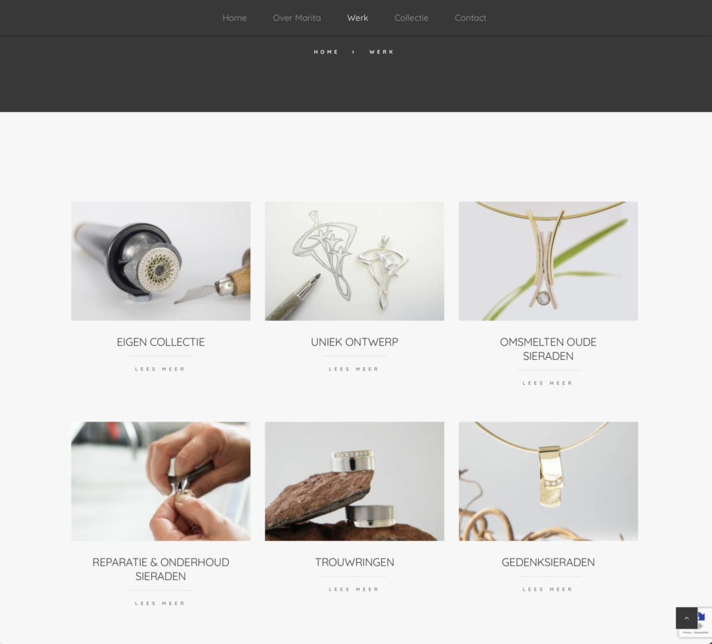 Nieuwe site Marita van oorschot pagina werk Cool Clogs
