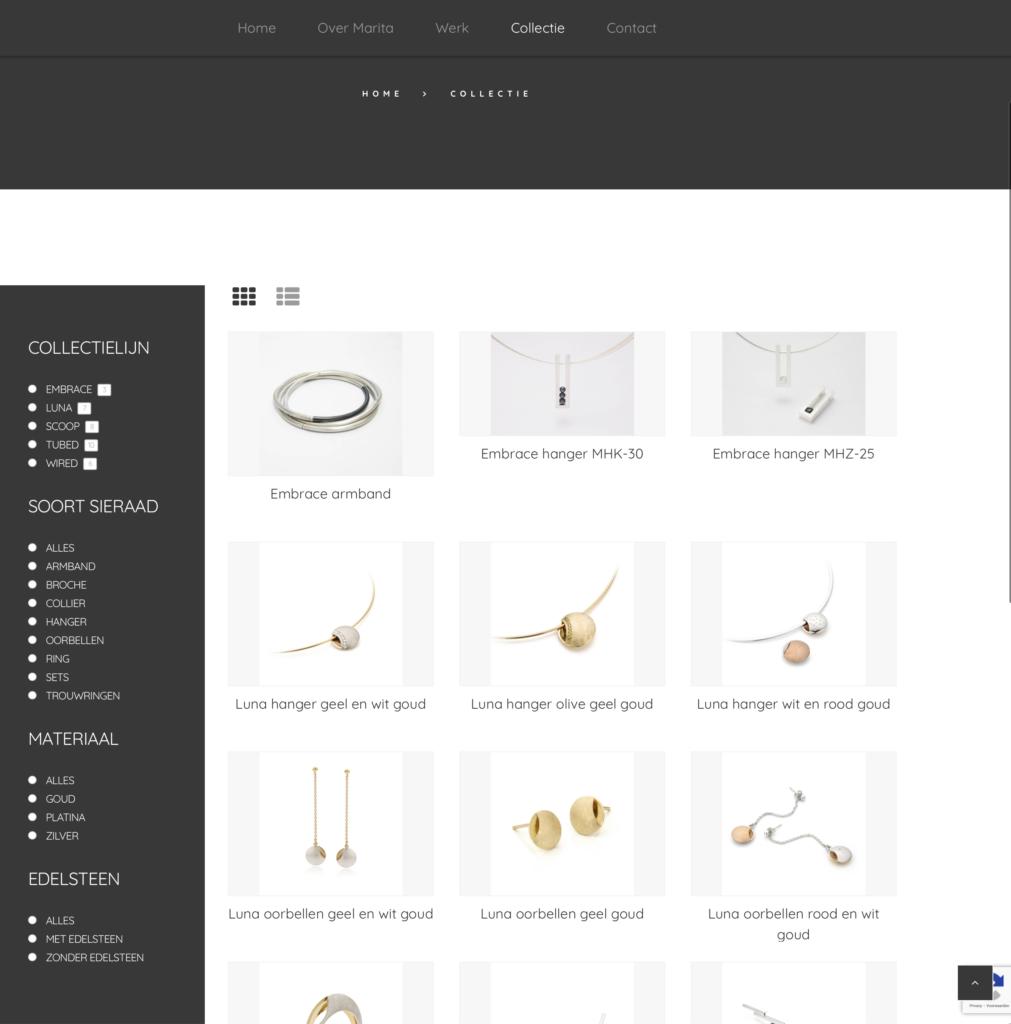nieuwe site Marita van Oorschot collectie pagina Cool Clogs Creatieve Communicatie